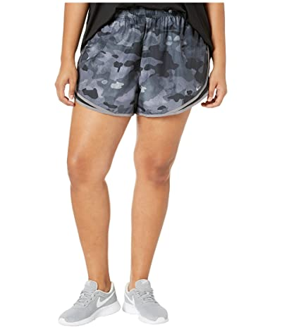 Nike Tempo Shorts Uni Print (Sizes 1X-3X) (Black/Black/Vast Grey/Wolf Grey) Women