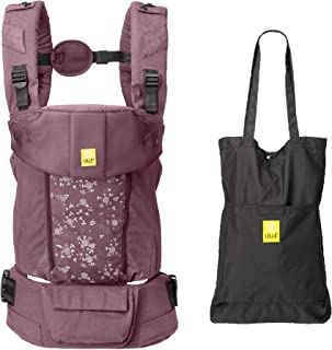 LÍLLÉbaby Serenity All Seasons SIX-Position Ergonomic Baby & Child Carrier with Convertible Tote, Fig – Cotton
