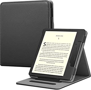 Fintie Kindle Oasis 第10世代 2019 Newモデル / 第9世代 2017 専用保護ケース 軽量 薄型 マグネット機能 オートスリープ スタンド機能 PUレザー 全面保護カバー 開閉式カバー(ブラック)