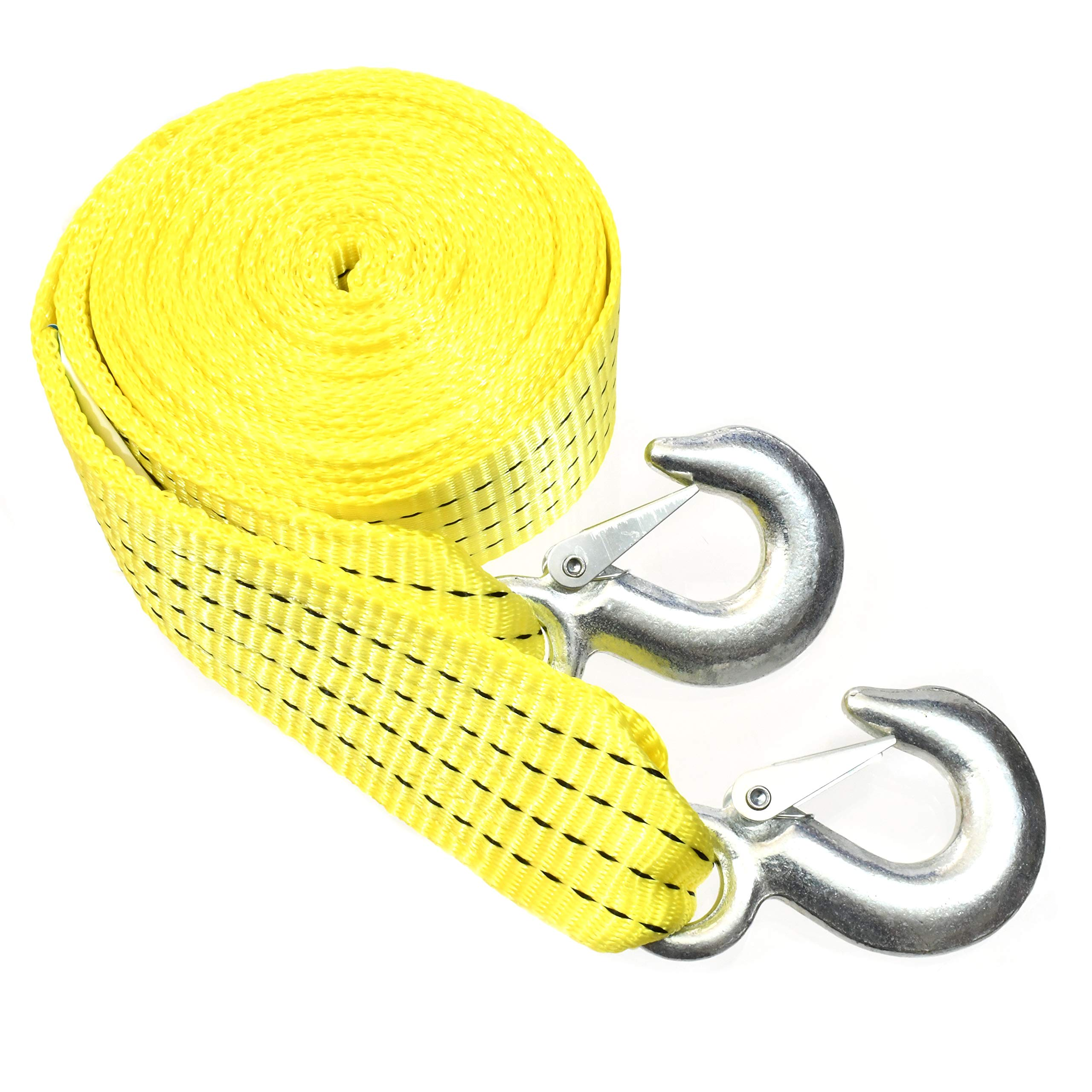 "10,000 LB Heavy Duty Tow Strap with Safety Hooks 2/"" x 20/' Polyester Superior Strength J/&R Quality Tools T/&HI-B07B9HBYKX"