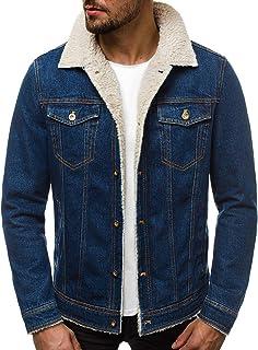 OZONEE B//5002X Herren Übergangsjacke Jeans Jeansjacke Denim Clubwear Vintage