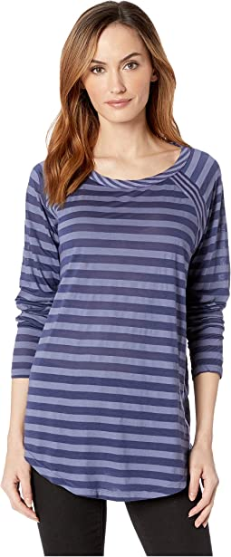 Tonal Stripe Mixed Stripe Raglan Sleeve Tee