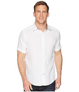 Short Sleeve Solid Linen Shirt