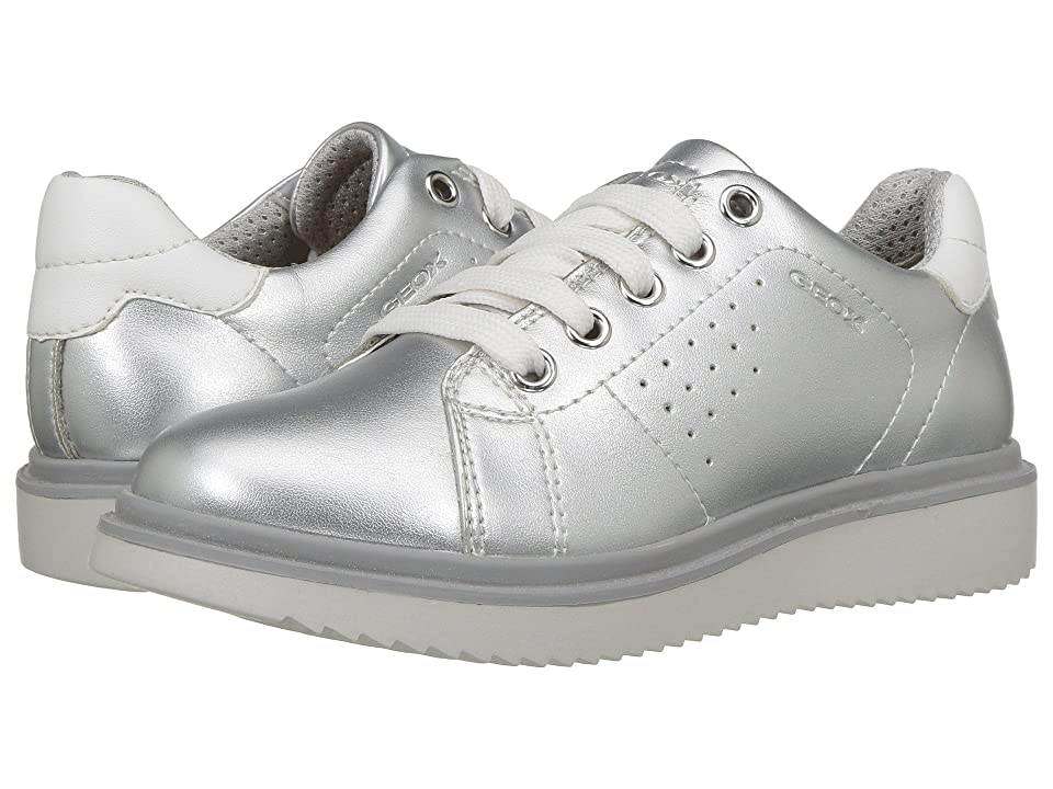 Geox Kids Thymar 4 (Little Kid) (Silver) Girl