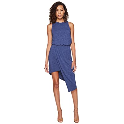 Splendid Heathered Asymmetrical Dress (Moonlight Blue) Women