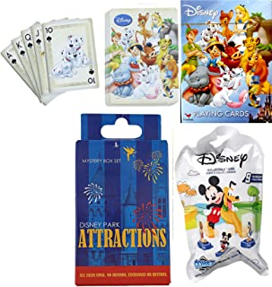 Dome Mini Figure Blind Bag & Parks Attractions Disney Playing Cards + Magic Kingdom Ride Character Attractions Blind Box Trading Pins Domez & Fun