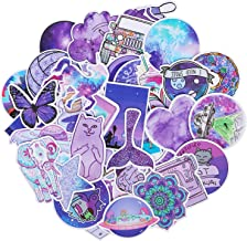 Roberly Cute Purple Stickers, 50 Pack Trendy VSCO Stickers Waterproof Water Bottle Stickers Laptop Stickers for VSCO Teen Girls Kids Guitar Skateboards Skate Stickers Unique Color Decals