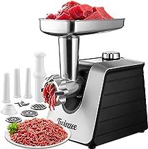 Hachoir Electrique à Viandes (Noir) - Pour Viande et Saucisse - Robot Cuisine, Hachoir à Viande avec 3 Plaques de Coupe en...