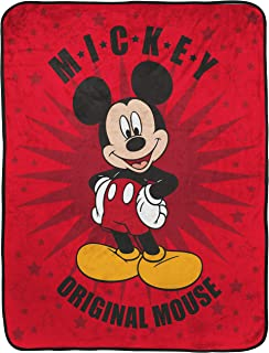 Jay Franco Disney Mickey Mouse Hey Mickey Raschel Throw Blanket - Measures 43.5 x 55 inches, Kids Bedding - Fade Resistant...