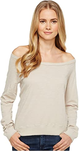 Three Dots - Off Shoulder Sweatshirt