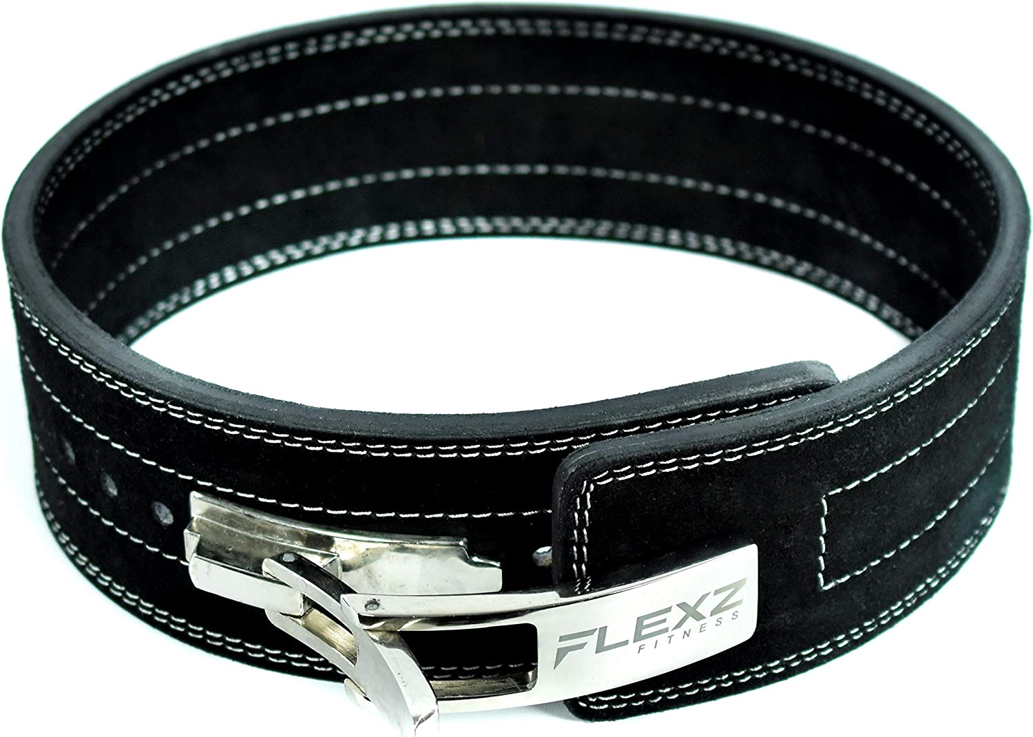 FlexzFitness Leather Power Lifting Belt for Men & Women Lower Back Support for Weightlifting : Sports & Outdoors