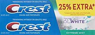 Crest 3D White Extreme Mint Toothpaste 2 x 125 ml