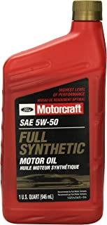 Genuine Ford Fluid XO-5W50-QGT SAE 5W-50 Full Synthetic Motor Oil - 1 Quart Bottle