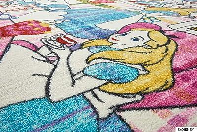 スミノエ(Suminoe) ラグ ピンク 100×140cm ディズニー アリス ストーリー 防炎 DRA-1064