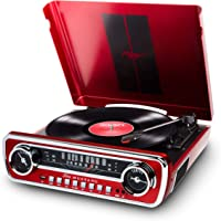 Ion Audio Mustang LP 4-in-1 Classic Car-Styles Music Center (Red / Black)