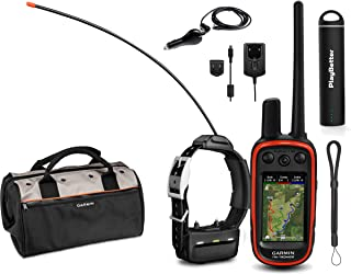 Garmin Alpha 100 TT15 Combo (1 Collar) HuntBetter Bundle w/ TT15 Dog GPS Collars, PlayBetter Portable Charger & Tether | Track & Train Dog GPS, Field Bag (Black)