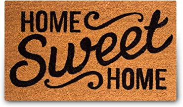 Pure Coco Coir Doormat with Heavy-Duty PVC Backing - Home Sweet Home - Size: 18-Inches x 30-Inches - Pile Height: 0.6-Inches - Perfect Color/Sizing for Outdoor/Indoor uses.