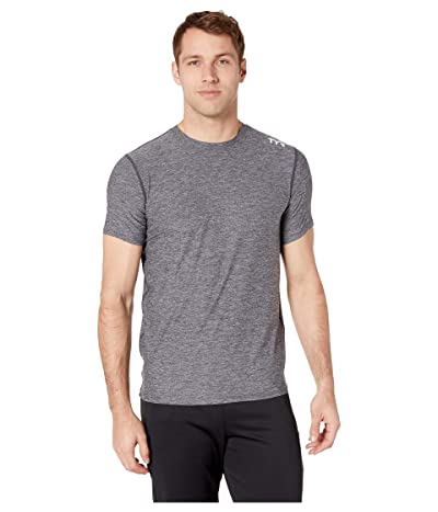 TYR Vista Short Sleeve Rashguard (Black) Men