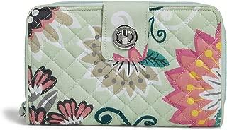 Vera Bradley womens Iconic Rfid Turnlock Wallet, Signature Cotton
