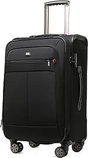 クロース(Kroeus) ソフトキャリーバッグ TSAロック スーツケース 大型キャスター マチ拡張 大容量 軽量 旅行 出張 ネームタグ付 防塵カバー