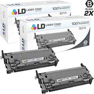 LD Remanufactured Toner Cartridge Replacement for HP 501A Q6470A (Black, 2-Pack)