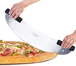 BOLEX 20'' High Carbon Stainless Steel Pizza Rocker Knife With Non-slip Handle, Rocker Pizza Knife for Commercial, Home
