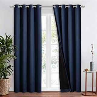 NICETOWN 100% Blackout Curtain Set, Thermal Insulated & Energy Efficiency Window Draperies for Guest Room, Full Shading Pa...