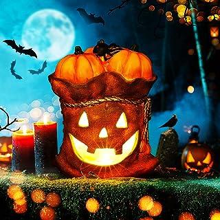 BUCASA Happy Halloween lantaarns, decoratieve pompoendecoratie van schuim voor Halloween en ter decoratie van je verwenste...