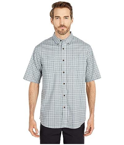 Dickies Relaxed Fit Flex Short Sleeve Plaid Shirt (Sequoia Navy Plaid) Men