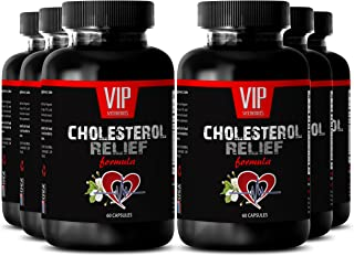 Policosanol Cholesterol Complex - Cholesterol Relief Formula - Anti oxidant Supplement - 6 Bottles 360 Capsules