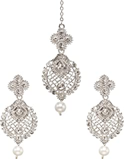 chandbali earrings silver
