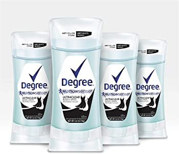 Degree UltraClear Black + White Antiperspirant Deodorant 2.6 oz, 4 count