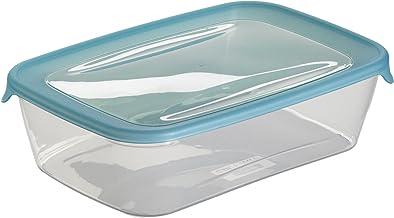 Curver 180690 Fresh'N Go vershouddoos, dicht afsluitbaar, rechthoekig, polypropyleen, transparant/blauw