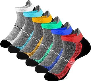 Newdora, Calcetines Hombre y Mujer 6 Pares Calcetines Cortos Cómodos Calcetines Tobilleros Divertidos Calcetines Deporte Running Ciclismo Antideslizantes