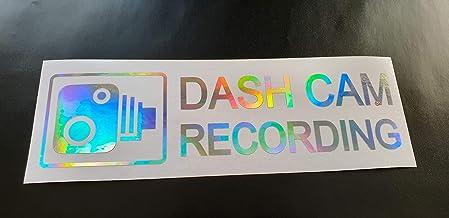 DASH CAM RECORDING Sticker Funny Novelty Car Vinyl Die Cut Window Bumper Decal Driver Insurance Silver or Gold Hologram Ne...