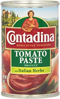 Contadina Tomato Paste with Italian Herbs 6 Oz (Pack of 3)