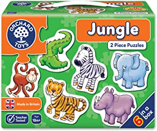 Orchard Toys Jungle, Children's Jigsaw Puzzles, Multi, 6 x 2 Piece
