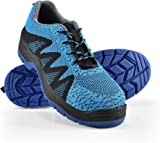 pro.tec] Work Safety Shoes Size 44 Boots Steel Toe Under Ankle Flyknit Blue/Black