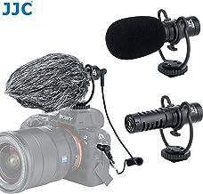 JJC SGM-V1 Shotgun Video Microphone, Cardioid Microphone Condenser Mic Vdeomicro w/Shock Mount, Furry Foam Windscreen, Ele...