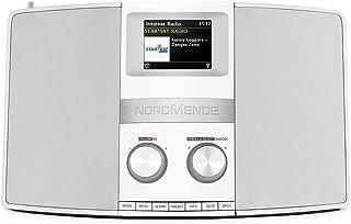 Nordmende Transita 400   Internetradio (DAB+, UKW, Stereo Radio, W LAN, Spotify Connect, Bluetooth Audiostreaming, NFC, Farbdisplay, Wecker, Kopfhöreranschluss, 2 x 10 Watt, 2 AUX In) schwarz/silber