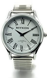 767c9300e Mens Water Resistant Miykon Watch Roman Numerals Stretch Elastic Band  Fashion Watch