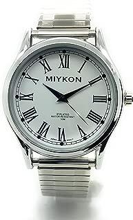Mens Water Resistant Miykon Watch Roman Numerals Stretch Elastic Band Fashion Watch
