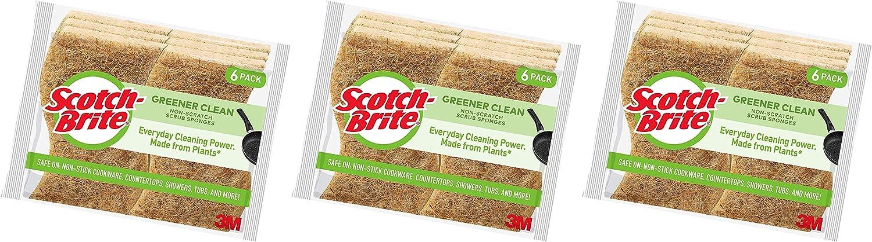 Scotch-Brite Greener Clean Non-Scratch Scrub Sponges 1 Pack 6 Count