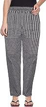 Fflirtygo Womens Night Pants, 100% Cotton, 100% Color Fastness, Brown and Black Check Pyjama for Women, Women's Leisure Wear, Night Wear Pajama