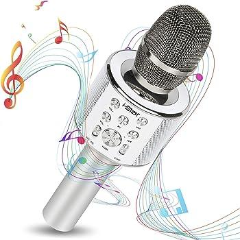 Micrófono Karaoke Bluetooth con Modo Dueto Luces Led 7 colores ...