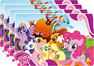Zak Designs My My Little Pony Kid's Placemat, Set of 4, Twilight, Fluttershy, Rainbow Dash & Friends