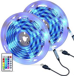 comprar comparacion Tiras LED 6M, OMERIL Impermeable Tira LED USB con Control Remoto, 4 Modos de Brillo y 16 Colores, 5050 RGB Tira LED para H...