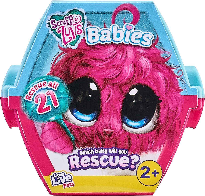 Little Live Pets 30150 Scruff-a-Luvs Bebés Lanzamiento, Reveal, Novio & Love Plush Rescue Pet