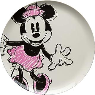 Zak Designs MMOP-0353 Disney Melamine Plates, 10 inches, Minnie Mouse