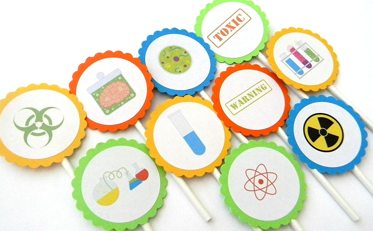 Max 43% OFF Science Cupcake Toppers - Set Dedication 12 of